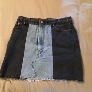 Levi's multicolored skirt